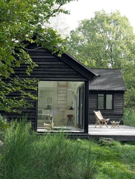 z przeszkleniem, duże okna, Świat przez duże okna, big windows, loft, small house,