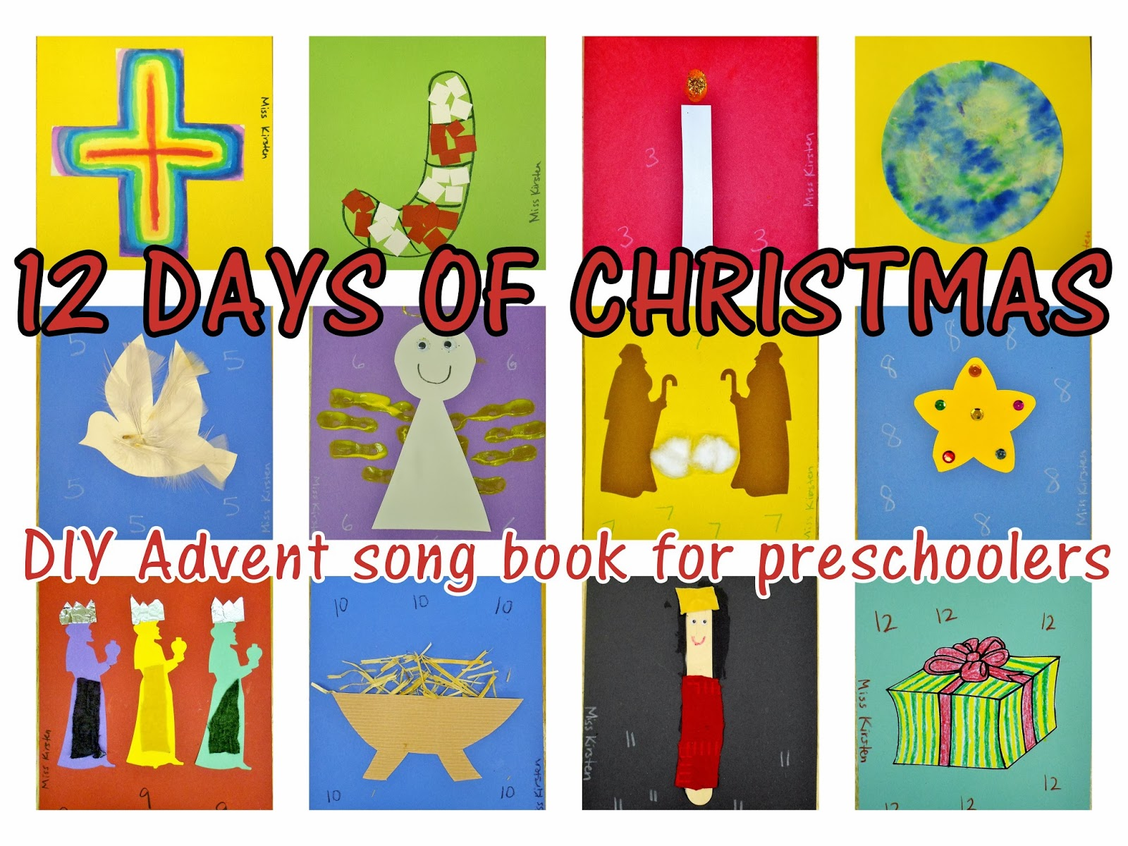 preschool advent song book
