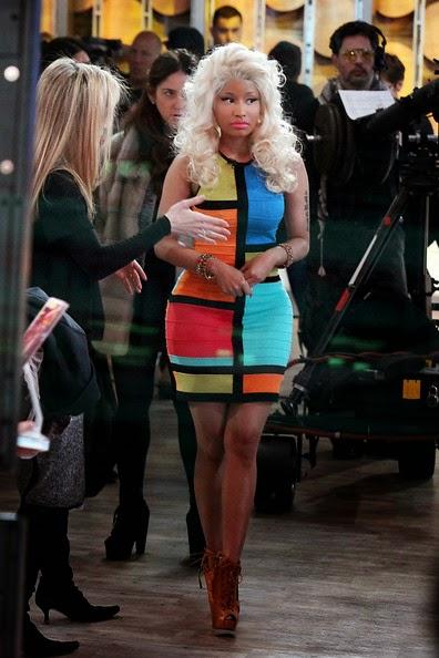 Nicki Minaj Rox Bold - Bright Colors for MAC Promo - Minaj Performing - All-Star