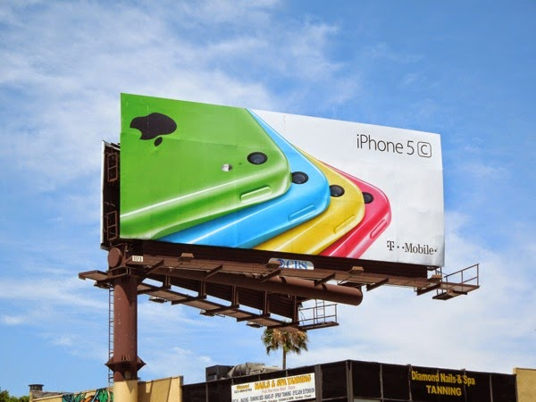 Apple iPhone 5c T-Mobile billboard