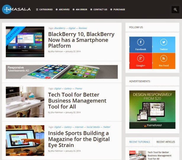 Masala - Responsive Blogger Template