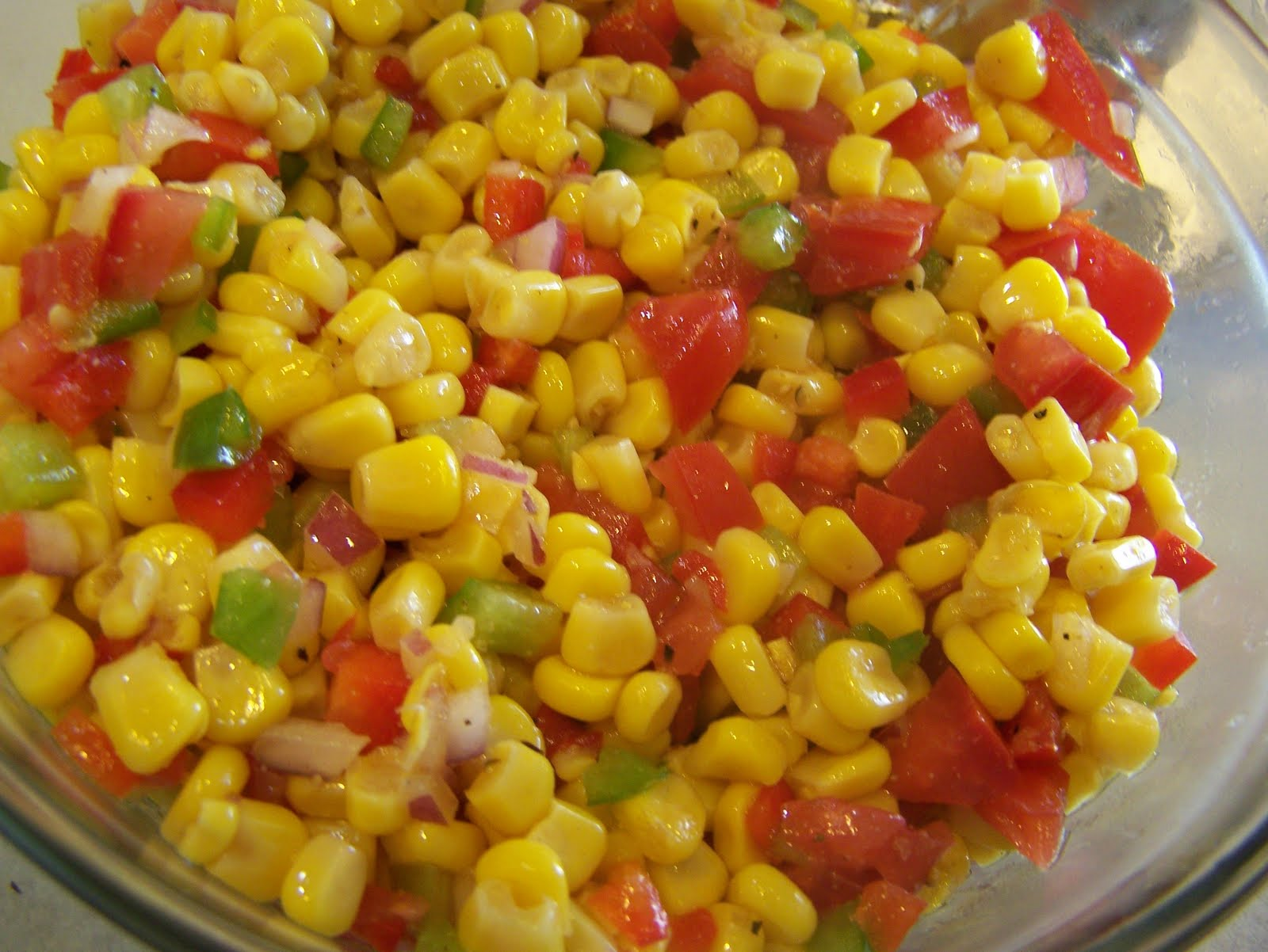 Vicky's Online Cookbook: Spicy Sweet Corn Salsa