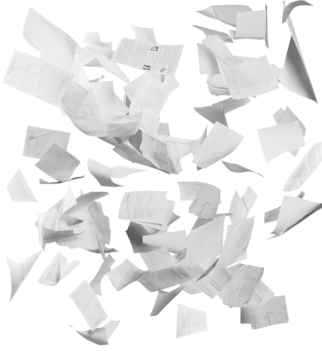 Scattered Paper