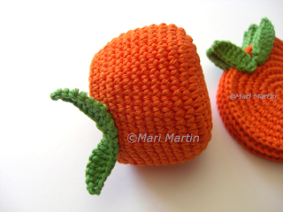 Crochet Napkin Holder Orange