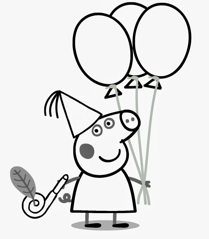 Dibujos de Peppa para Colorear, parte 2