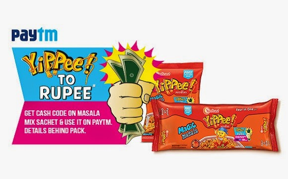 Purchase Yippee Masala Noodle & get Paytm Wallet Cash