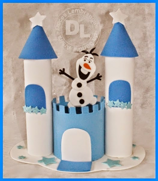 Artesanato em eva (Castelo da Frozen)