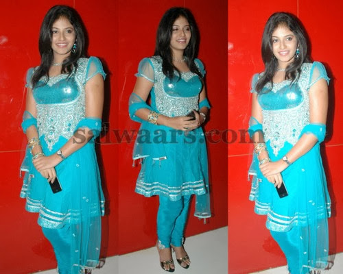 Anjali Ruffed Sleeves Churidar