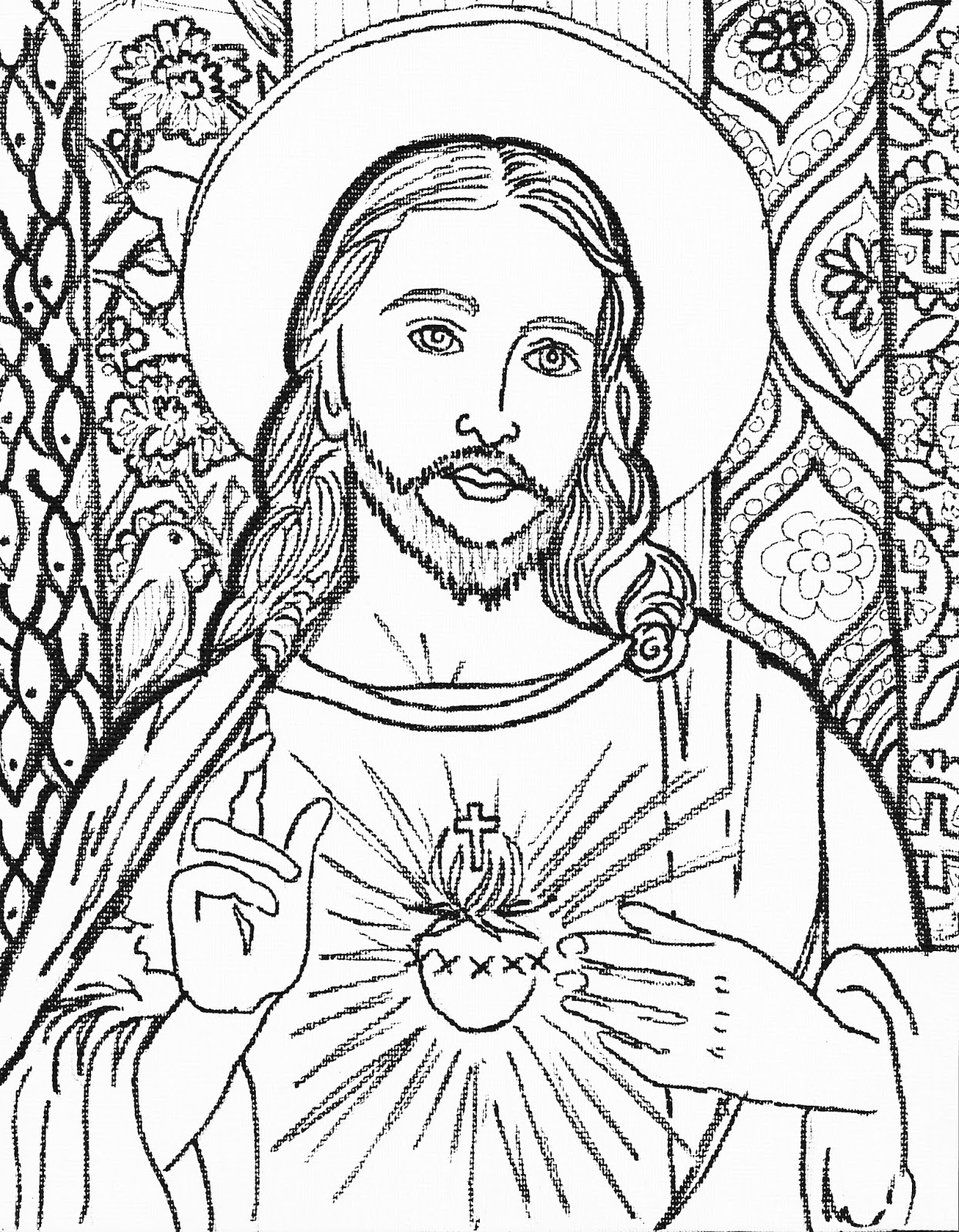Line Drawing Jesus Face : Camilla spadafino art