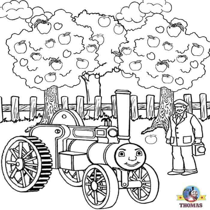 Kids Thomas the train coloring pages free online printable picture  title=