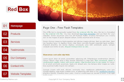 RedBox: Free FLASH Google Blogger Template