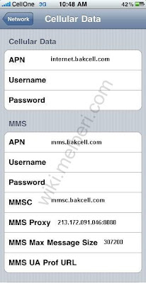 BakCell APN Settings for iPhone