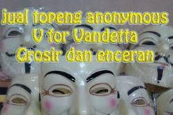 Jual Topeng Anonymous V For Vandetta murah
