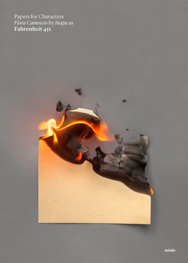 Fahrenheit 451: Filmplakat ohne Feuerwehrmann und nur mit einer Buchseite