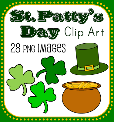 Saint Patty's clover shamrock leprechaun pot of gold rainbow teachers pay teachers Ireland Irish green March