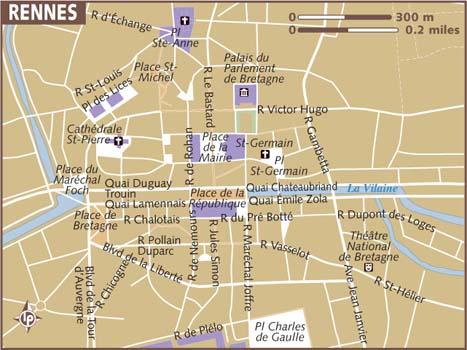 Tô indo para a França: RENNES - Mapas
