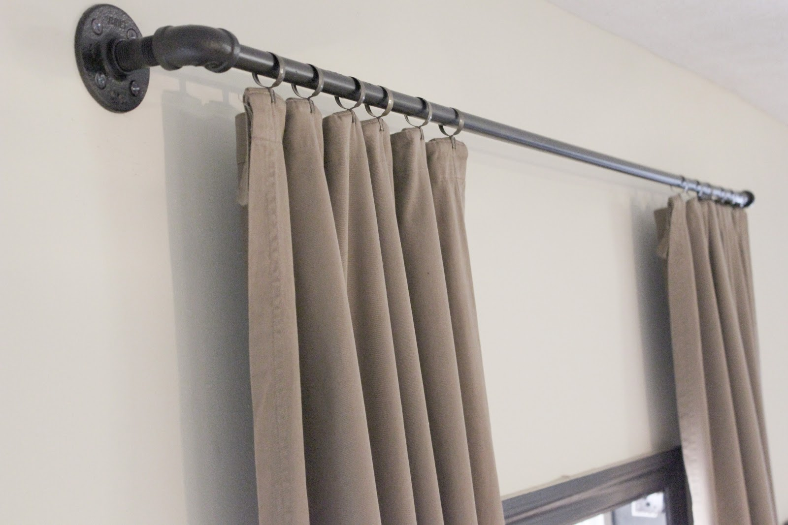 pin copper rod easy a diy industrial and curtains thrifty bedrooms pipes pipe curtain as