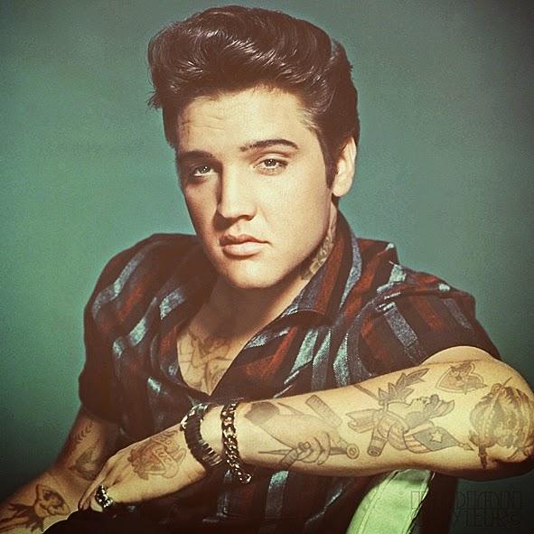 Life time gear tattooed jack nicholson james dean for Elvis presley tattoos