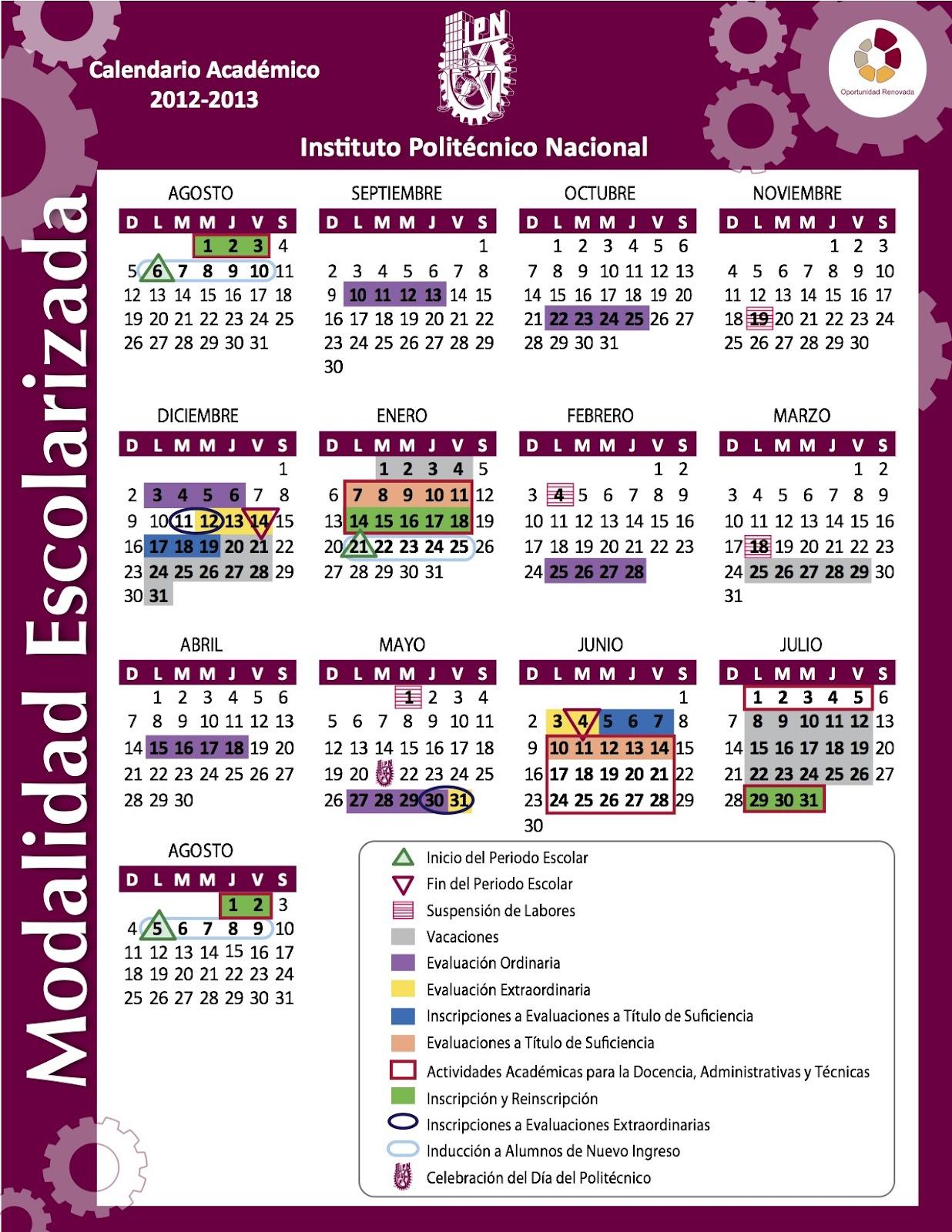 Calendario 2015 Ipn | Calendar Template 2016
