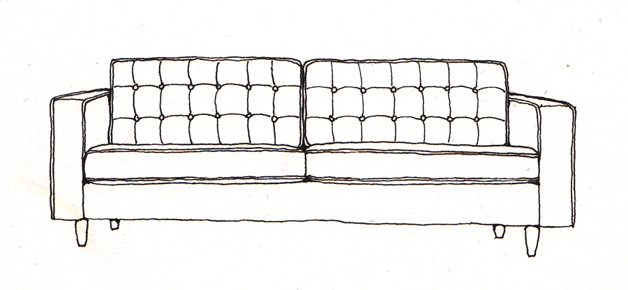 couch drawing. I Am Back To Drawing The Things In My House. This Is Our Couch. It Grey. Couch