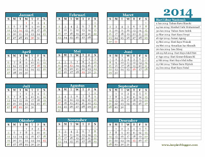 Download Kalender 2014 Format Coreldraw X5 X6 CDR