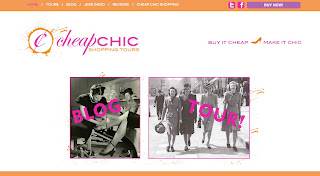 Cheap Chic Shopping Tours with Jess Zaino Website Design