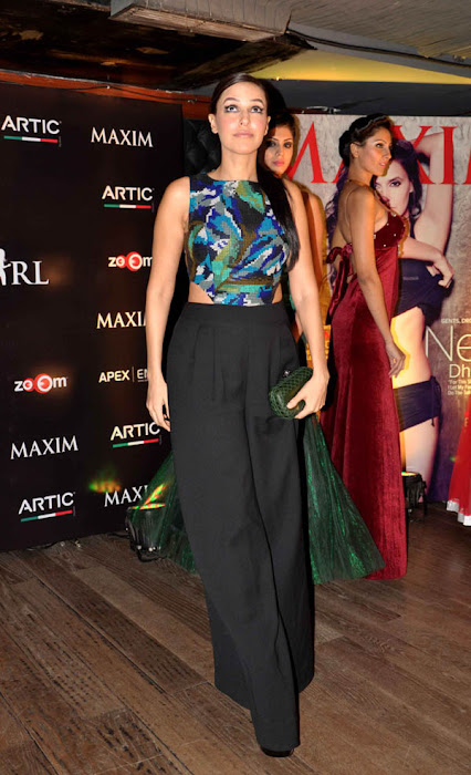 neha dhupia at maxim artic vodka party cute stills