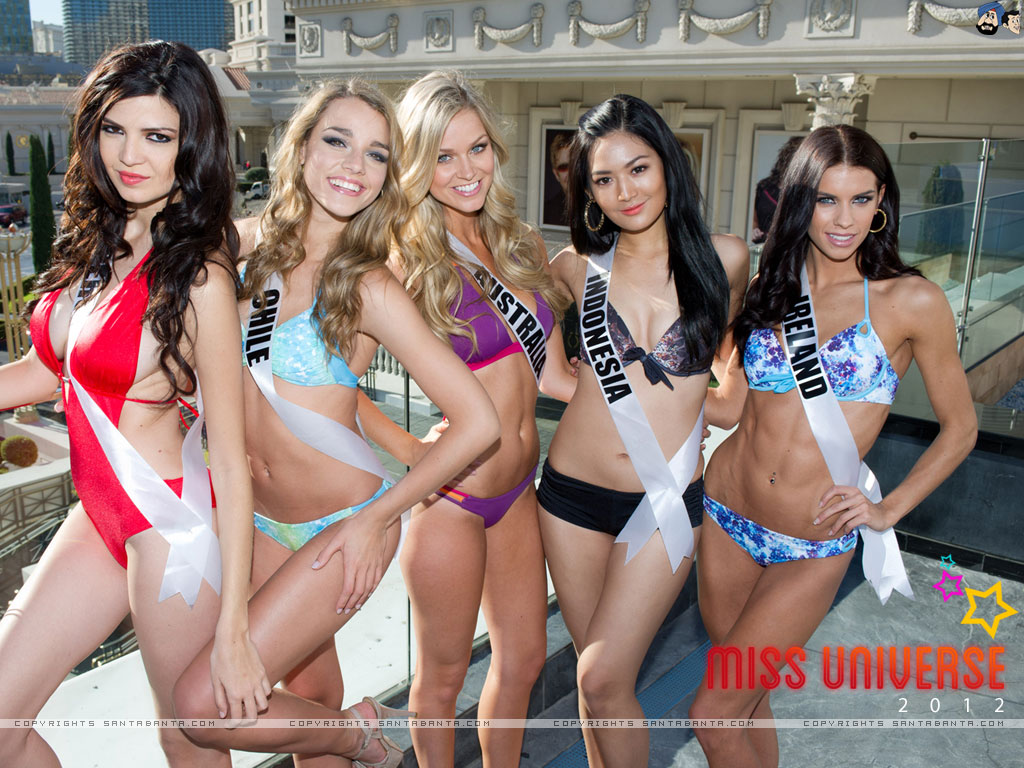 Miss Universe 2012 Sexy contestants wearing Lingerie