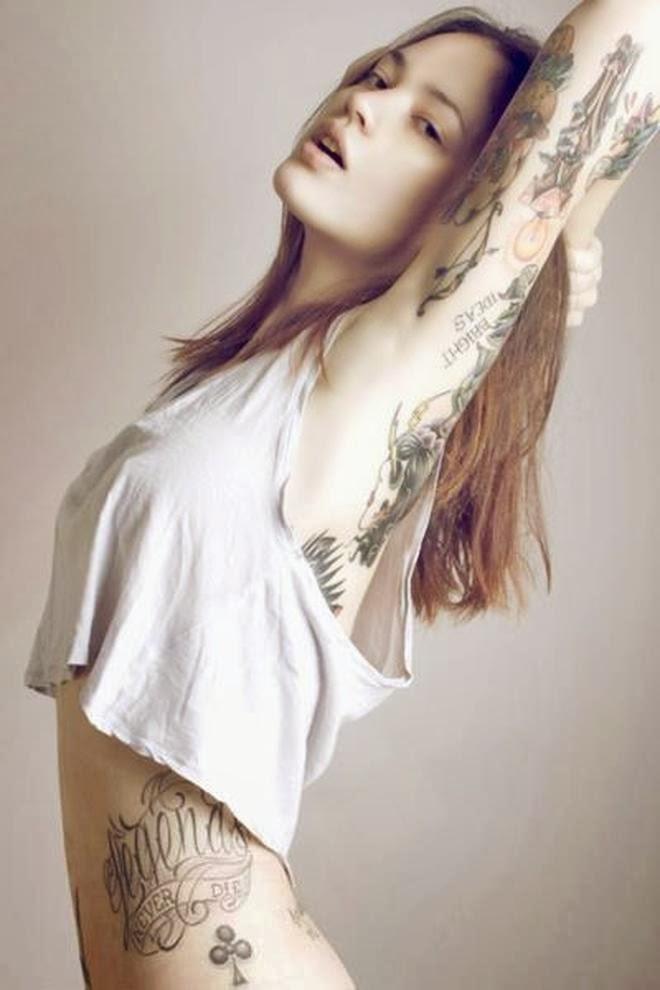Good Freaking Wine Female Tattoo