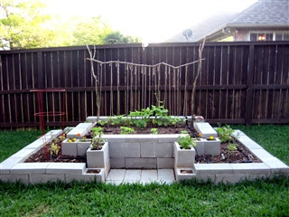 Using Concrete Blocks To Build Beds