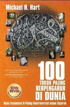 sampul buku 100 Tokoh Dunia Paling Berpengaruh Versi Michael H. Hart