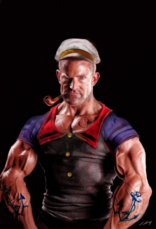 In The Mouth Of Dorkness Dork Art This Popeye Scares Me