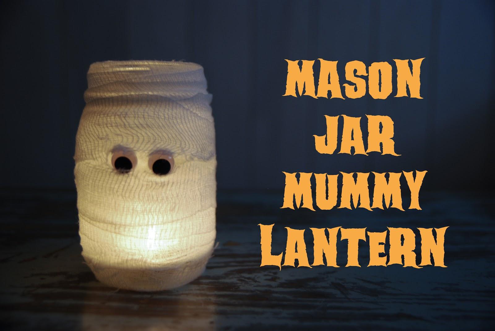 halloween mason jar mummy lantern
