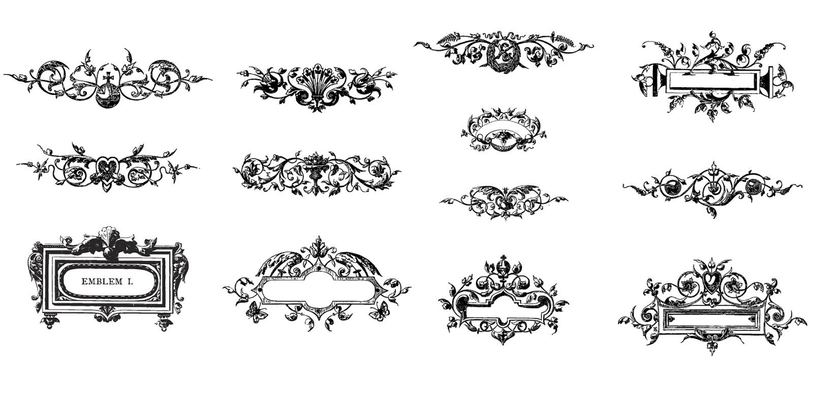 古典的な植物のオーナメント Vector Floral Ornaments Pack イラスト素材