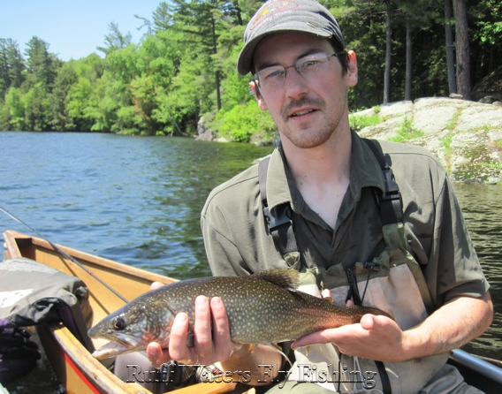 Ruff waters fly fishing fly fishing for lake trout in the for Adirondack fly fishing