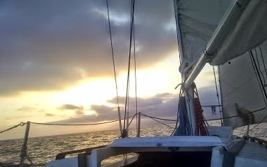 Lovely Evening At Sea