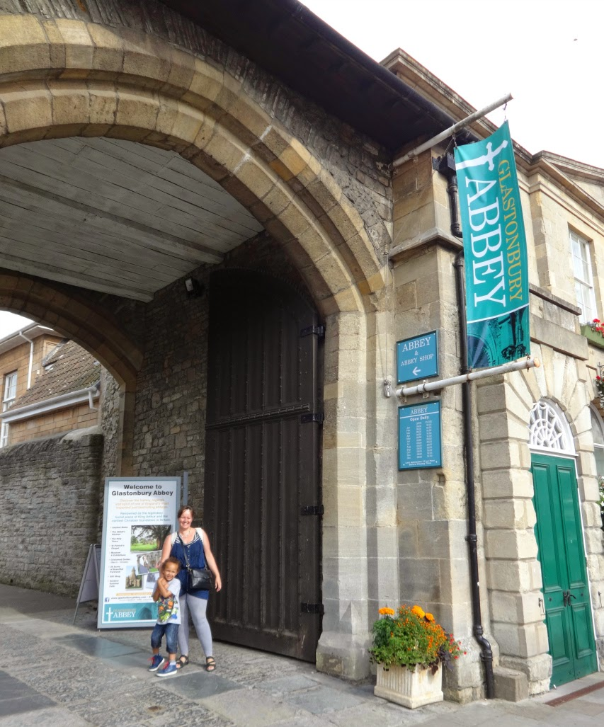 The entrance to Glastonbury Abbey