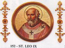 San León IX Papa número 152 de la iglesia católica.