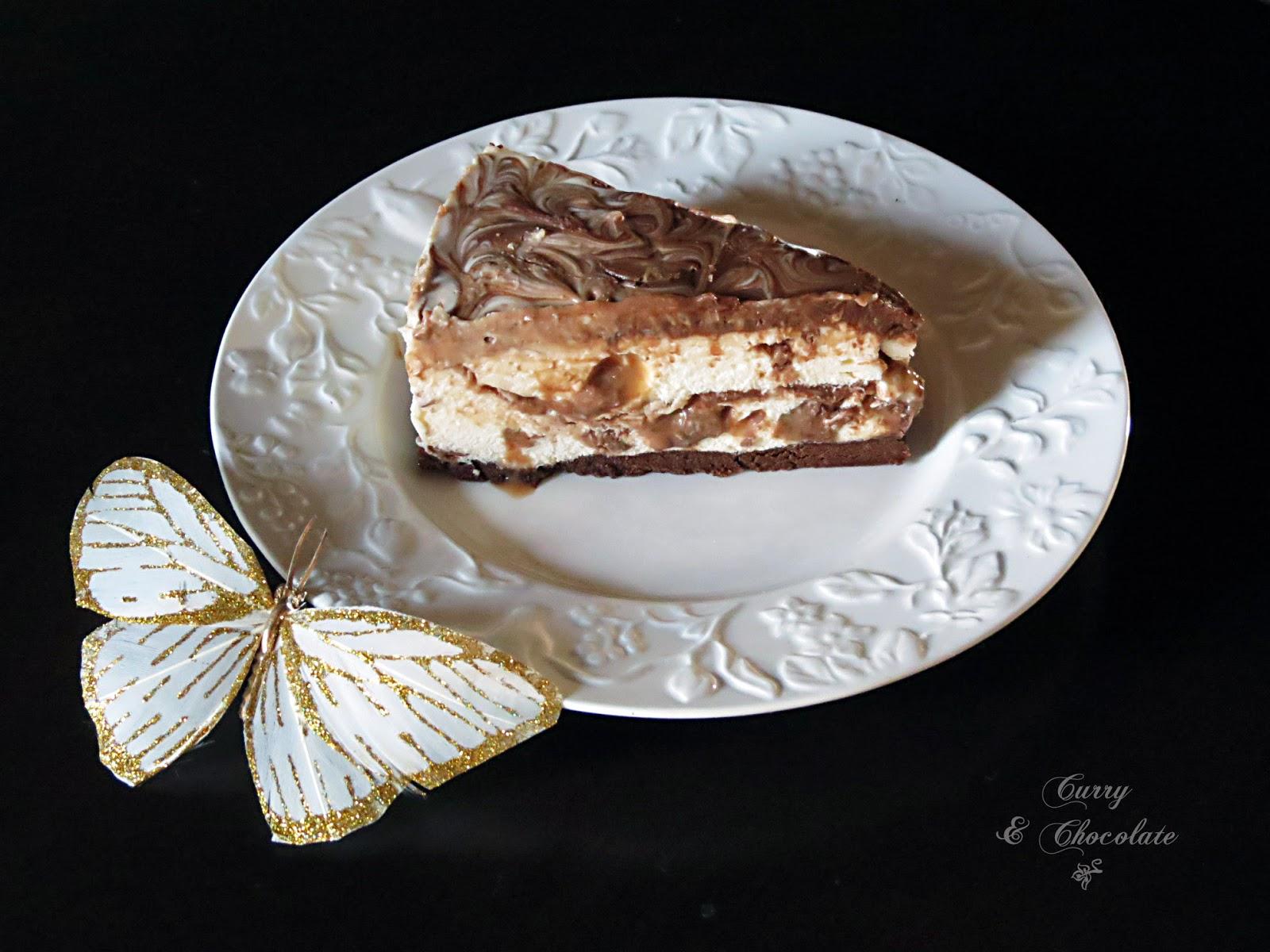 Mars chocolate bars cheesecake