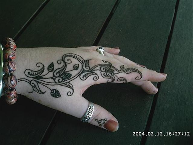 Simple Mehndi Pattern
