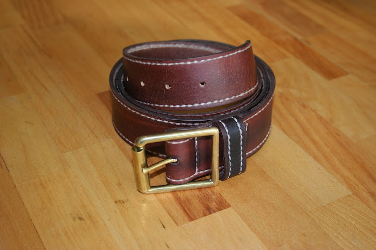 Stitched Hide belt.
