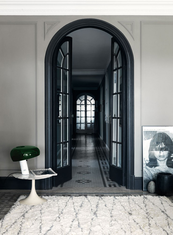 Black arched french door | Jonas Ingerstedt