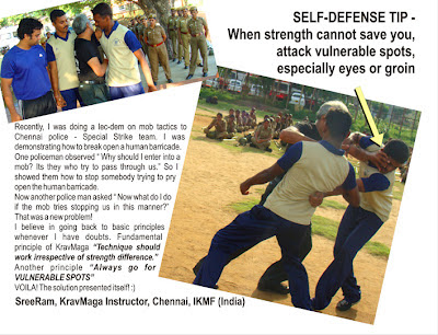 SELF DEFENSE TIP - KRAV-MAGA CHENNAI