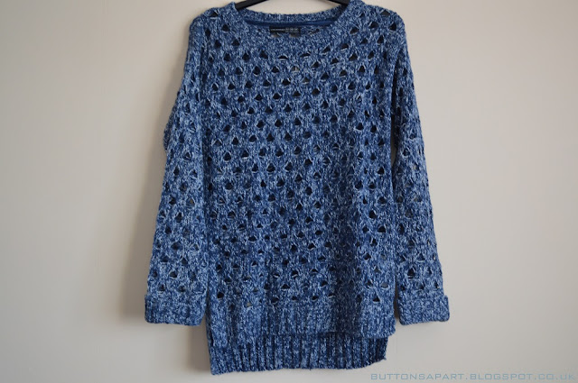 a picture of a blue knitted jumper from primark