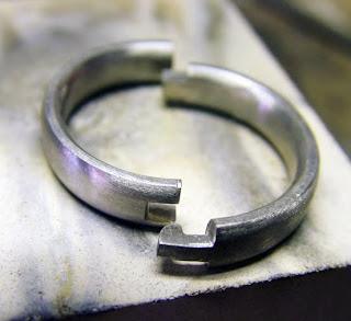 Jewelled Palladium Hinged Ring