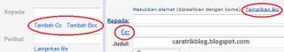 Apa yand dimaksud dengan Cc dan Bcc?