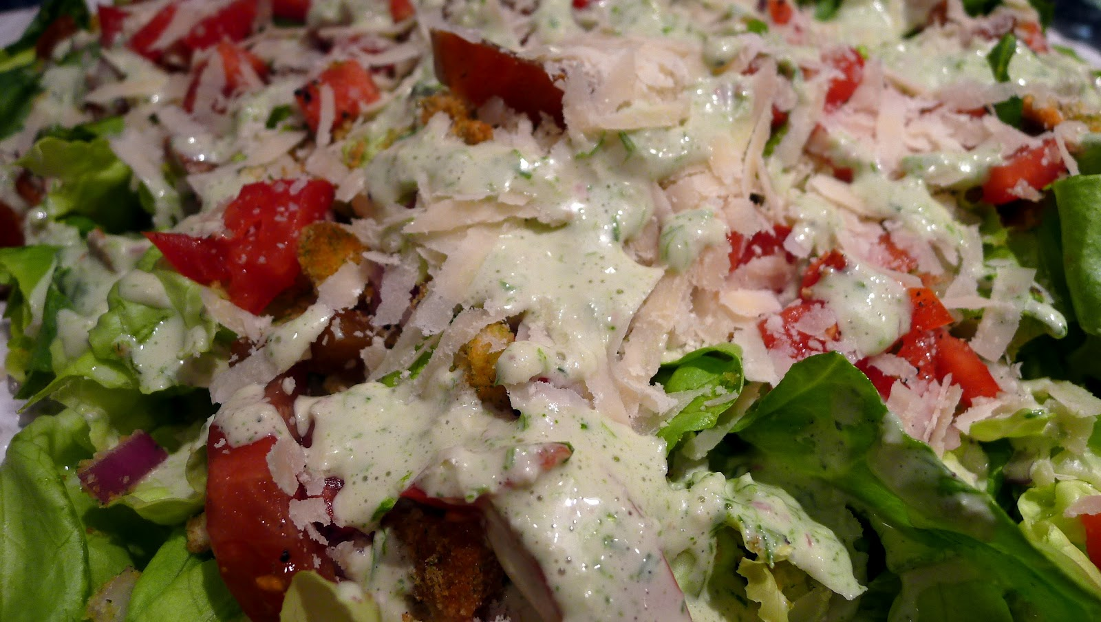 ... : Creamy Tarragon Dressed Butter Lettuce with Crumbled Croutons