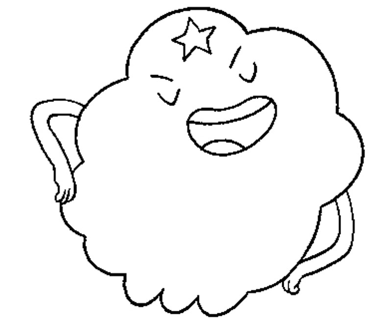 Printable Adventure Time - Lumpy Space Princess 6 Coloring Page title=