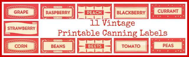 Antique Canning Jar Labels Royalty Free Stock Images via ~~~Knick of Time