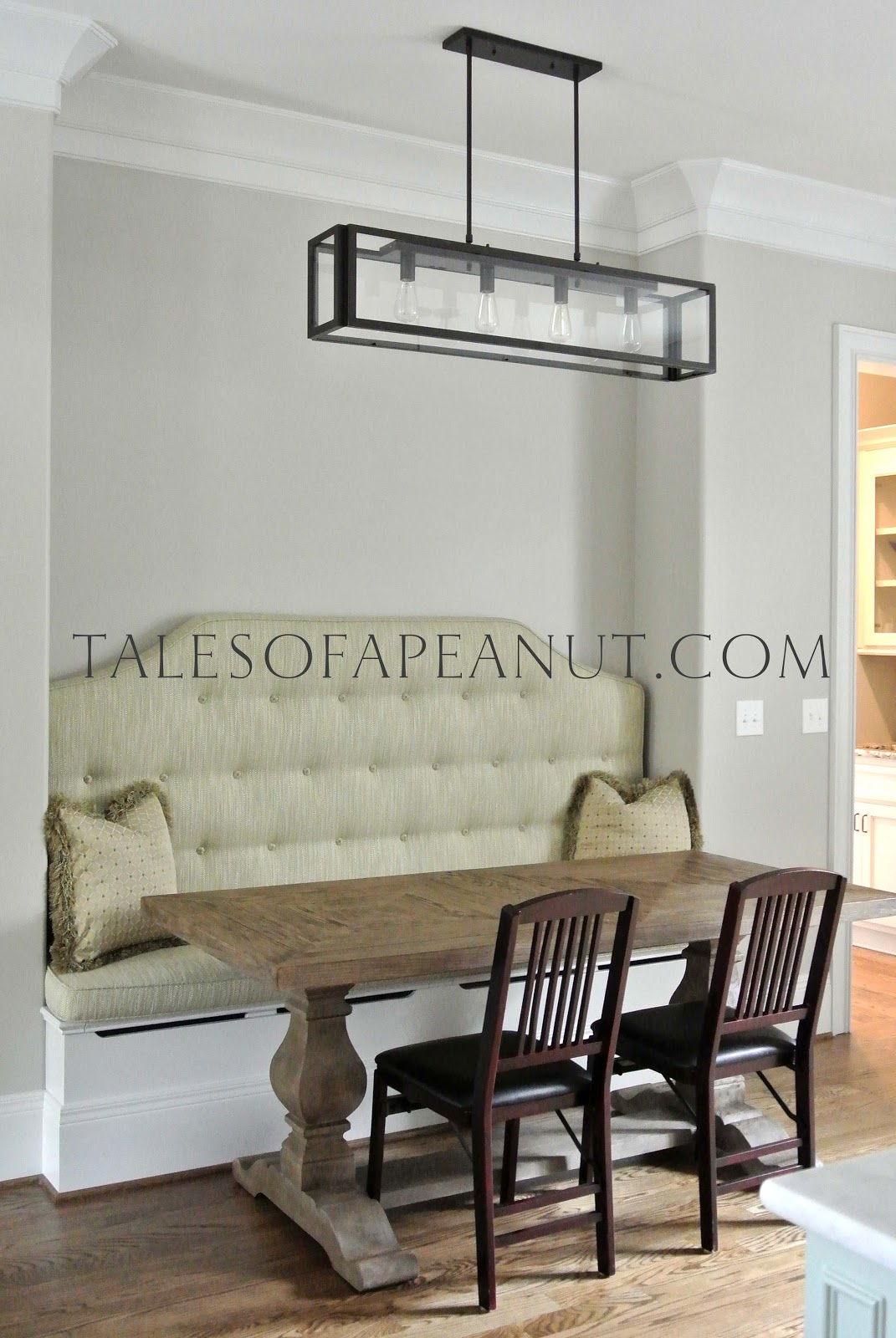 Building a home kitchen banquette jenn elwell - Where to buy kitchen banquette ...